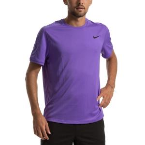 Camisetas de Tenis Hombre Nike Court Dry Camiseta  Psychic Purple/Black AT4305550