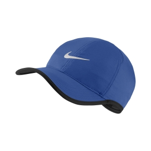 Tennis Hats and Visors Nike Featherlight Cap  Blue/White 679421480