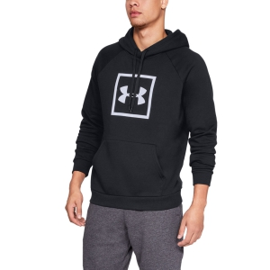 Men's Tennis Shirts and Hoodies Under Armour Rival Fleece Logo Hoodie  Black/White 13297450001