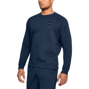Men's Tennis Shirts and Hoodies Under Armour Rival Fleece Crew Sweatshirt  Navy 13207380408