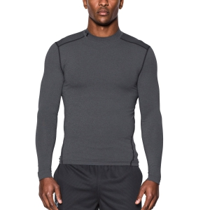 Tennis Men's Underwear Under Armour ColdGear Compression Mock Shirt  Grey/Black 12656480090