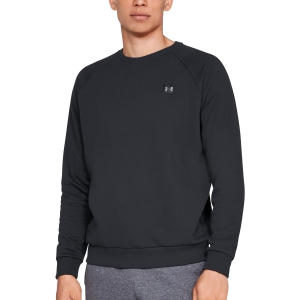 Men's Tennis Shirts and Hoodies Under Armour Rival Fleece Crew Sweatshirt  Black 13207380001