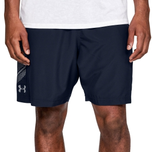 Pantaloncini Tennis Uomo Under Armour Woven Graphic 8in Shorts  Navy/Grey 13096510409