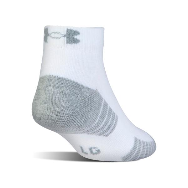 Under Armour HeatGear Tech Low-Cut x 3 Socks - White/Grey