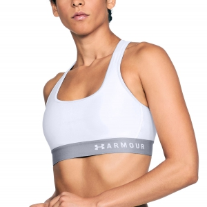 Tennis Women's Underwear Under Armour Mid Crossback Bra  White 13072000100