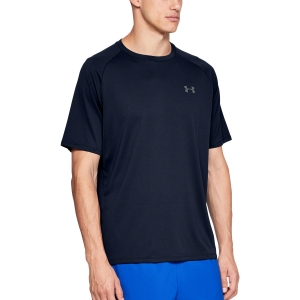 Men's Tennis Shirts Under Armour Tech TShirt  Navy 13264130408