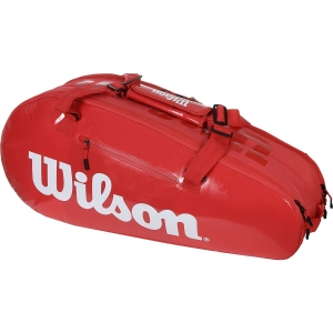 Tennis Bag Wilson Super Tour 2 Comp Small x 6 Bag  Red WRZ840803