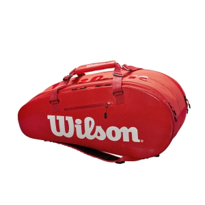 Tennis Bag Wilson Super Tour 2 Comp Large x 9 Bag  Red WRZ840809