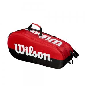 Tennis Bag Wilson Team 2 Comp x 6 Bag  Red/Black WRZ857909