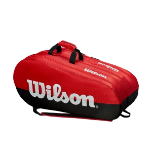 Tennis Bag Wilson Team 3 Comp x 15 Bag  Red/Black WRZ857915