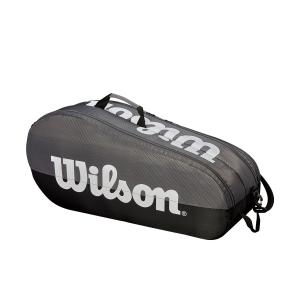 Tennis Bag Wilson Team 2 Comp x 6 Bag  Grey/Black WRZ854909