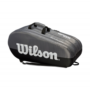 Tennis Bag Wilson Team 3 Comp x 15 Bag  Grey/Black WRZ854915