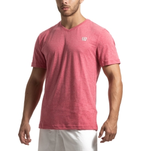 Camisetas de Tenis Hombre Wilson Training V Neck Camiseta  Granita WRA773903