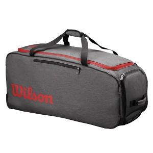 Tennis Bag Wilson Traveler Wheeled Coach Duffel  Grey/Red WRZ847894