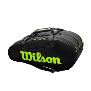 Borsa Tennis Wilson Super Tour 3 Comp x 15 Borsa  Black/Green WR8004101