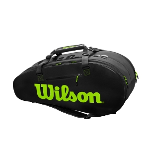 Borsa Tennis Wilson Super Tour 2 Comp Large x 9 Borsa  Black/Green WR8004201