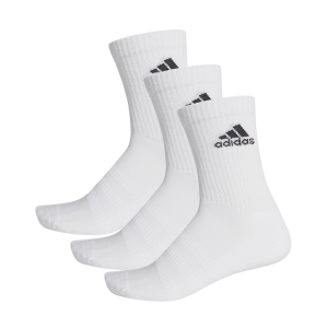 Tennis Socks Adidas Cushioned Crew X 3 Socks  White/Black DZ9356