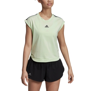 Women`s Tennis T-Shirts and Polos Adidas New York TShirt  Glow Green/Black DX4318