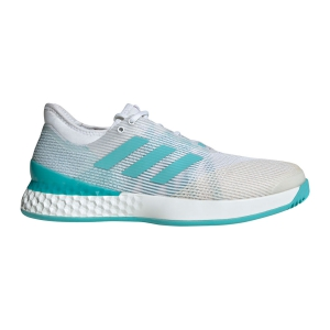 Men`s Tennis Shoes Adidas Adizero Ubersonic 3 Parley  White/Light Blue CG6376