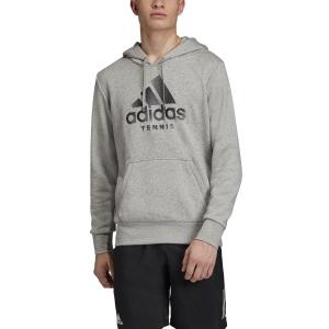 Men's Tennis Shirts and Hoodies Adidas Category Fleece  Medium Grey Heather FJ3889