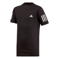 Adidas Adidas Club 3 Stripes Camiseta Nino  Black/White  Black/White DU2487