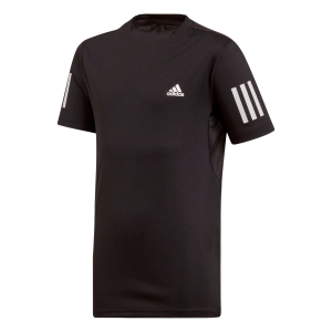 Polos y Camisetas de Tenis Adidas Boy Club 3 Stripes TShirt  Black/White DU2487