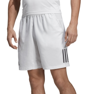 Men's Tennis Shorts Adidas Club 3 Stripes 9in Shorts  White/Black DP0302