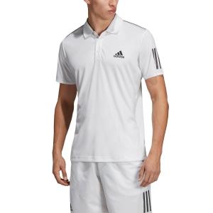 Men's Tennis Polo Adidas Club 3 Stripes Polo  White/Black DU0849