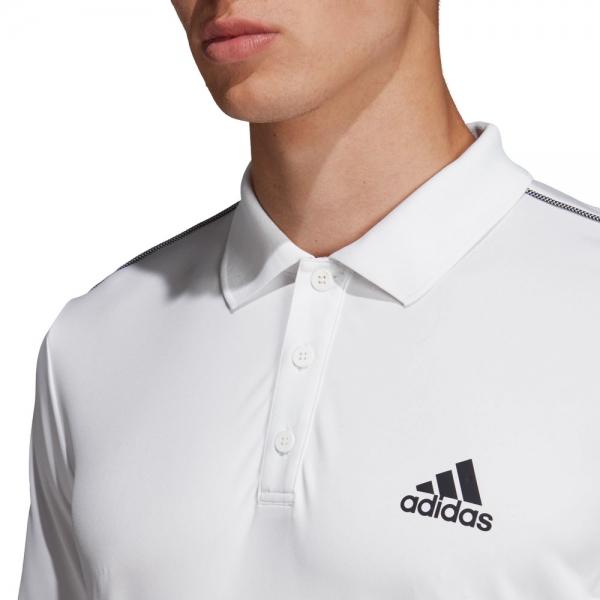 Adidas Club 3 Stripes Polo - White/Black