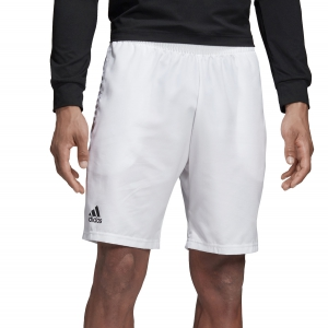 Pantaloncini Tennis Uomo Adidas Club 9in Shorts  White/Black DU0879