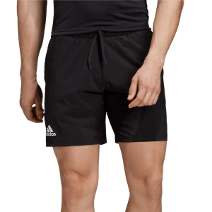 Men's Tennis Shorts Adidas Club Stretch Woven 7in Shorts  Black/White DX0476
