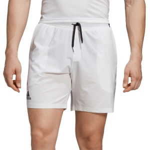 Men's Tennis Shorts Adidas Club Stretch Woven 7in Shorts  White/Black DX0475