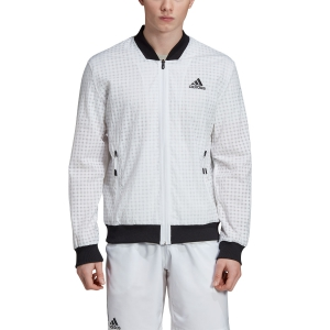 Men's Tennis Jackets Adidas Escouade Jacket  White/Black DT4507