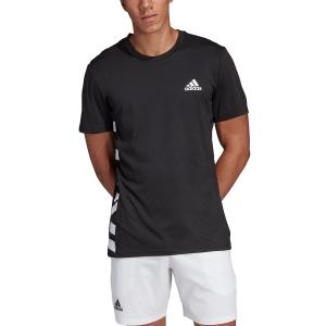 Men's Tennis Shirts Adidas Escouade TShirt  Black/White DW8469
