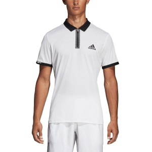 Polo Tenis Hombre Adidas Escouade Polo  White/Black DT4504