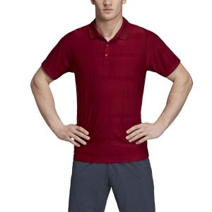 Men's Tennis Polo Adidas MatchCode Polo  Collegiate Burgundy EI8972