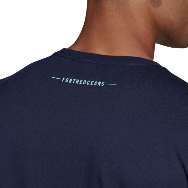 72483fc894 Adidas Parley Pocket Men's Tennis T-Shirt - Navy