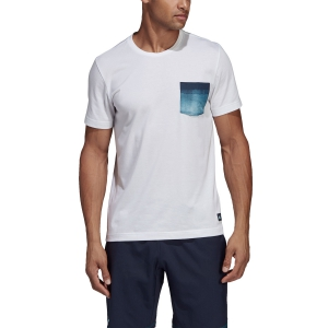 Men's Tennis Shirts Adidas Parley Pocket TShirt  White DV2965