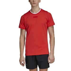 Camisetas de Tenis Hombre Adidas Stella McCartney Court Camiseta  Active Red EJ5577