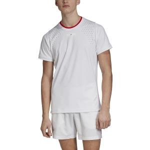 Maglietta Tennis Uomo Adidas Stella McCartney Court Maglietta  White EJ5576