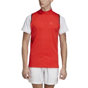 Camisetas de Tenis Hombre Adidas Stella McCartney Court Zipper Camiseta  Active Red EA3164