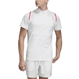 Maglietta Tennis Uomo Adidas Stella McCartney Court Zipper Maglietta  White EA3161