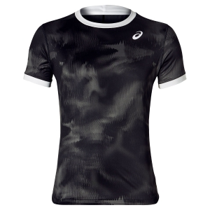 Camisetas de Tenis Hombre Asics Club Graphic TShirt  Black/White 2041A030.001
