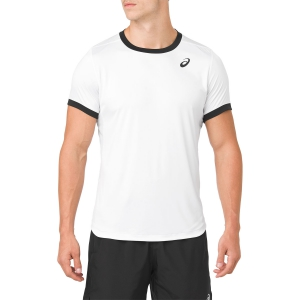 Maglietta Tennis Uomo Asics Club TShirt  White/Black 2041A037.100