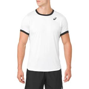 Camisetas de Tenis Hombre Asics Club TShirt  White/Black 2041A037.100