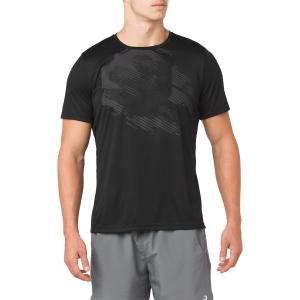 Maglietta Tennis Uomo Asics Practice Graphic TShirt  Black 2041A048.001