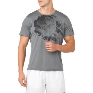 Camisetas de Tenis Hombre Asics Practice Graphic TShirt  Grey 2041A048.020