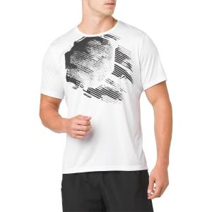 Maglietta Tennis Uomo Asics Practice Graphic TShirt  White/Black 2041A048.100