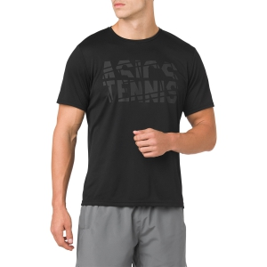 Camisetas de Tenis Hombre Asics Practice TShirt  Black 2041A033.001