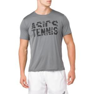 Camisetas de Tenis Hombre Asics Practice TShirt  Grey 2041A033.020